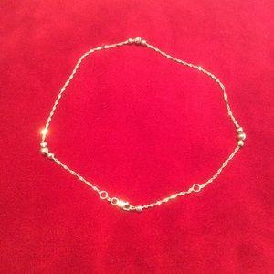 Jewelry - 14K Gold Italian Ankle Bracelet